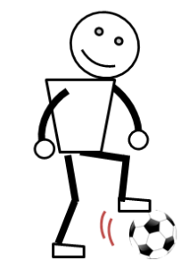 サッカーのボールタッチ