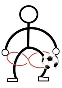サッカーのボールフィーリング練習2
