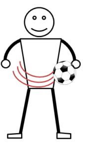 サッカーのボールフィーリング練習1