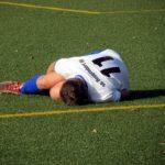 サッカーで怪我した