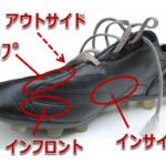 インサイド、インステップなどサッカーでの足の名前