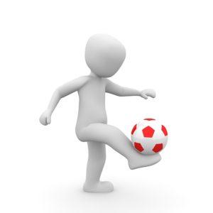 サッカーのトラップ、コントロール
