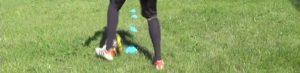 ダブルタッチ:左足のインサイドドリブル