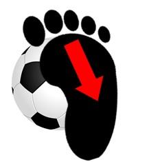 Vの字ドリブル:ボールを引く