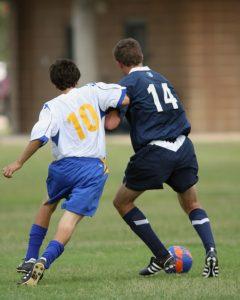 サッカーにおけるボディシェイプの例