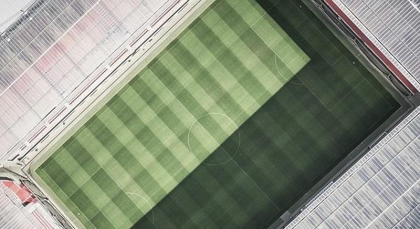 サッカースタジアム・ピッチの画像
