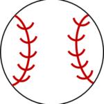 野球ボールの自作画像:無料