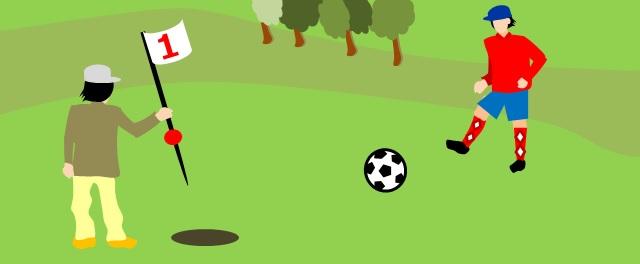 フットゴルフをイメージして作成した画像