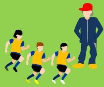 サカボン自作フリー画像:サッカー・練習(トレーニング)風景