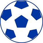サカボン自作フリー画像:サッカーボール(青色)