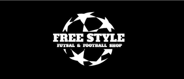 札幌市白石区本郷通8丁目北8-1にある、フットサルブランドを中心としたサッカー&フットサルショップ「FreeStyle」のロゴ