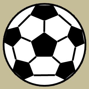 サッカーボールのフリー素材、イラスト、画像、サイズ:300×300 byサカボン