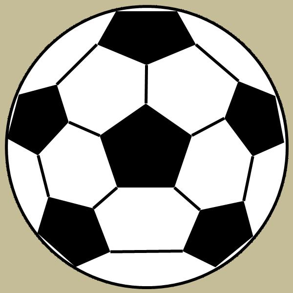 サッカーボールのフリー素材、イラスト、画像、サイズ:600×600