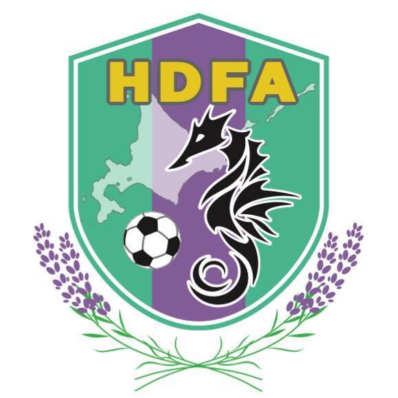 北海道ろう者サッカー協会 HDFAのロゴ