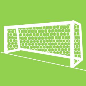 サッカーゴールのイラスト