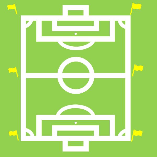 サッカーのピッチのイラスト