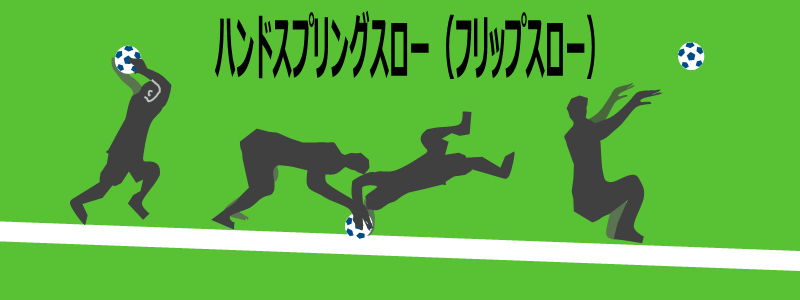 ハンドスプリングスロー(フリップスロー)のイラスト
